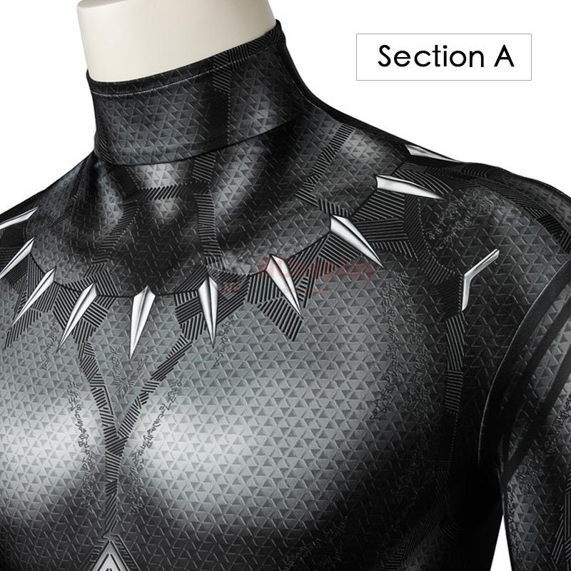 Captain America Civil War Black Panther Jumpsuit T'Challa Cosplay Costume Suit
