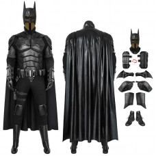 2021 Movie The Batman Bruce Wayne Robert Pattinson Cosplay Costume Suit