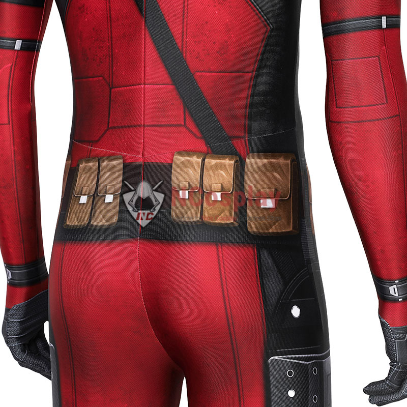 Deadpool Wade Wilson Jumpsuit Cosplay Costume Top Level