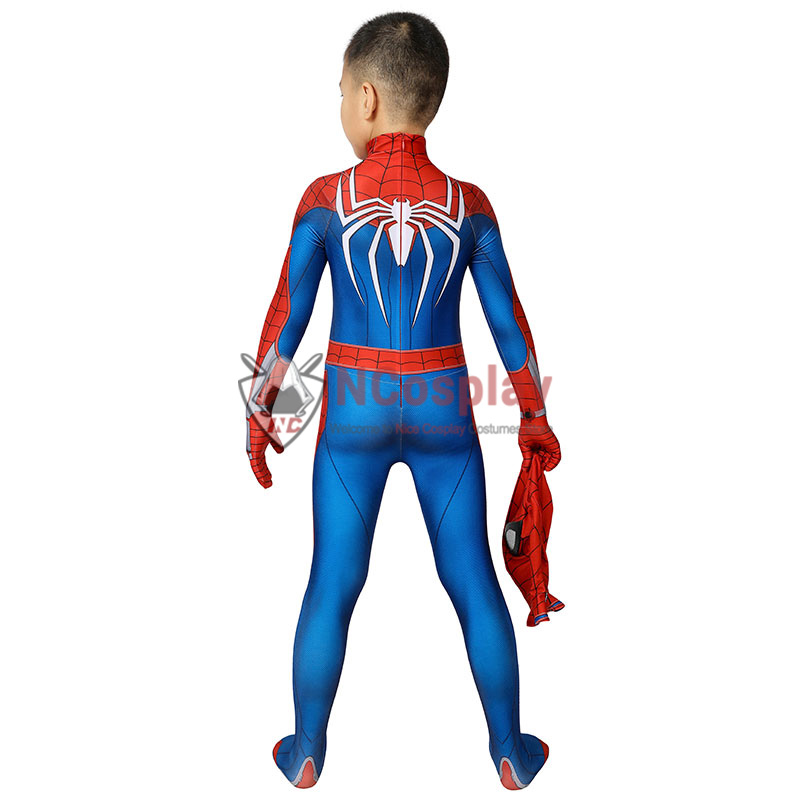 Marvel Spider Man PS4 Cosplay Costume Kids Spiderman Jumpsuit