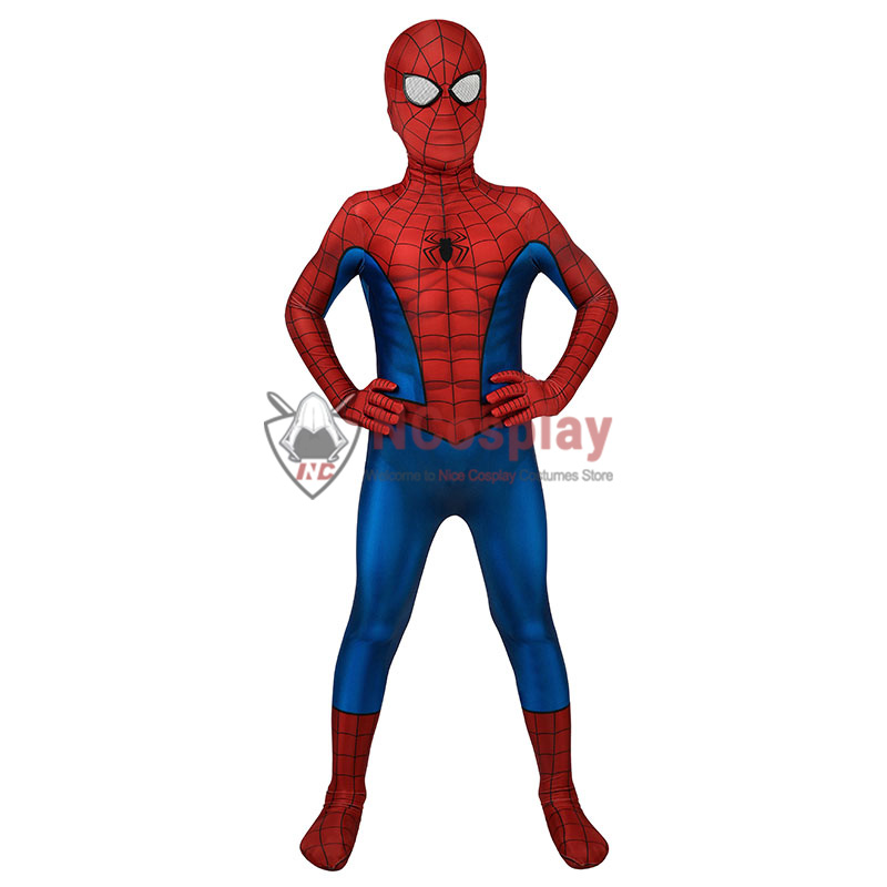 Spider Man Tobey Maguire Cosplay Costume Spiderman Jumpsuit For Kids
