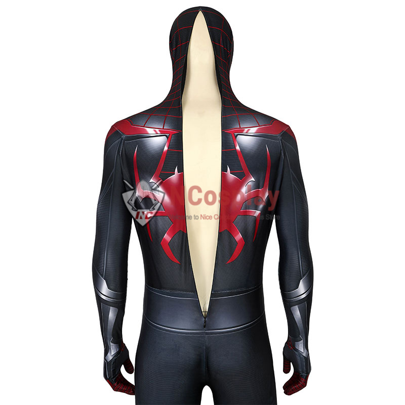 Spider Man PS5 Miles Morales Cosplay Costume Spiderman Jumpsuit